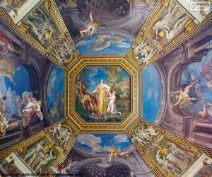 puzzel Het schilderen van een koepel van het Vaticaan