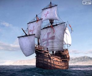 puzzel Het schip Santa Maria
