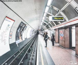 puzzel Het station van de metro van Londen