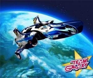 puzzel Het Team Galaxy ruimtevaartuig is de Hornet