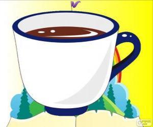 puzzel Het theekopje, de kop thee van Alice