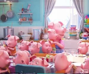 puzzel Het varken Rosita
