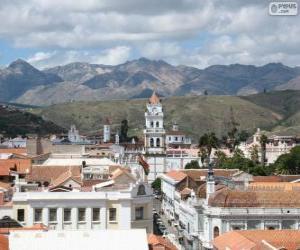 puzzel Historische stad van Sucre, Bolivia