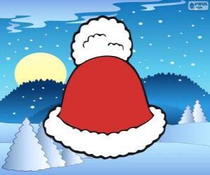 puzzel Hoed met witte kwast van Santa