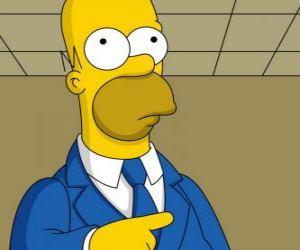 puzzel Homer Simpson zeer elegante