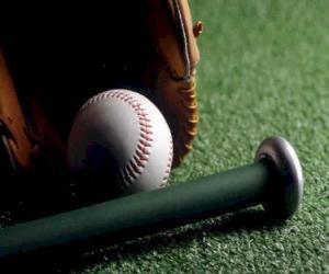 puzzel Honkbal, handschoen en knuppel
