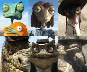 puzzel hoofdrolspelers van de film Rango