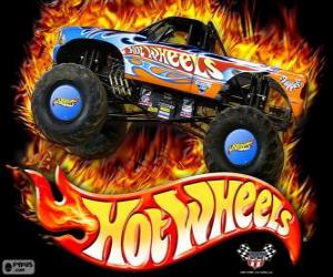 puzzel Hot Wheels Monster Truck in actie