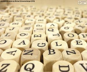 puzzel Houten kubusbrieven
