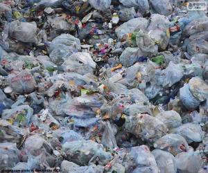puzzel Huishoudelijk afval