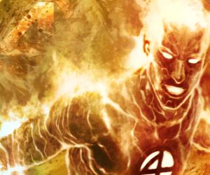 puzzel Human Torch is het jongste lid van de Fantastic Four