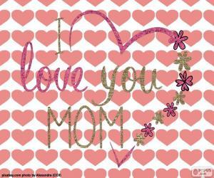 puzzel Ik hou van jou mam