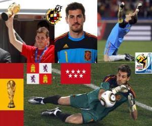 puzzel Iker Casillas (de heilige van Móstoles) Spaanse team keeper of doelman
