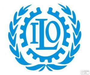 puzzel ILO-logo, de Internationale Arbeidsorganisatie
