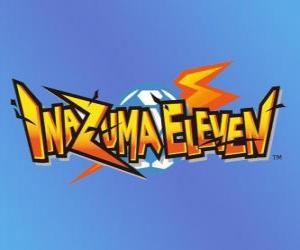 puzzel Inazuma Eleven-logo. Nintendo video game en anime manga