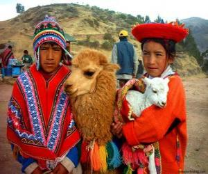 puzzel Inca traditionele jurken