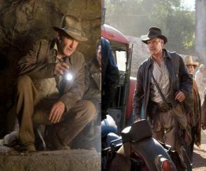puzzel Indiana Jones is een van de meest beroemde van de wereld avonturiers