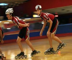 puzzel Inline Roller skater