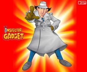 puzzel Inspector Gadget is verkleed als de beroemde inspecteur Closeau