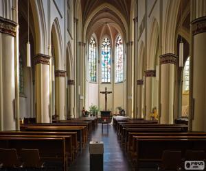 puzzel Interieur van de kerk