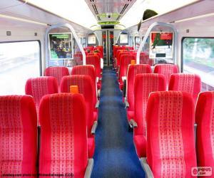 puzzel Interieur van een wagen trein