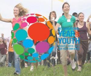 puzzel Internationaal Jaar van de Jeugd. Augustus 2010 - 2011. Ons jaar onze stem