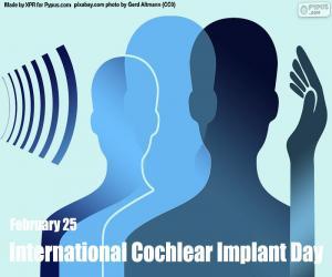 puzzel Internationale Dag van de Cochleaire Implantaten