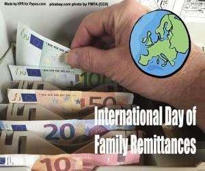 puzzel Internationale Dag van de Familie remittances
