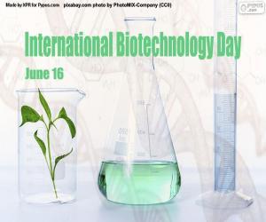 puzzel Internationale Dag van de Biotechnologie