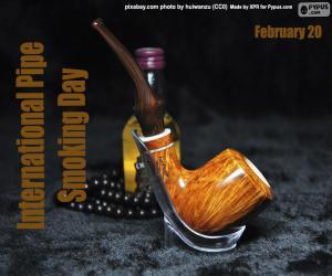 puzzel Internationale Dag van het Roken van de Pijp