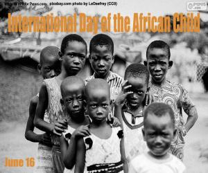 puzzel Internationale Dag van het Afrikaanse Kind