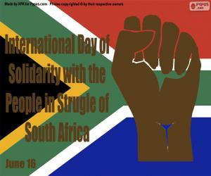 puzzel Internationale Dag van Solidariteit met de Mensen in Strijd van Zuid-Afrika