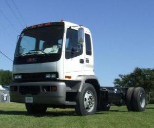 puzzel Isuzu FTR vrachtwagen
