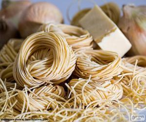 puzzel Italiaanse pasta, spaghetti