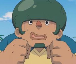 puzzel Jack Wallside of Heigoro Kabeyama is de grote en timide verdediger van Raimon Eleven