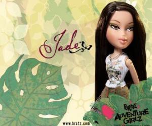 puzzel Jade: - Kool Kat - is Azië, met groene ogen. Zijn middelste naam is Marie, vertegenwoordigt wijsheid.