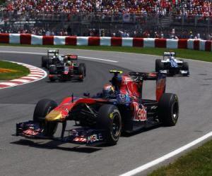 puzzel Jaime Alguersuari - Toro Rosso - Montreal 2010