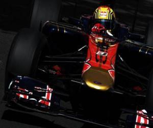 puzzel Jaime Algueruari-Toro Rosso - Monte-Carlo 2010