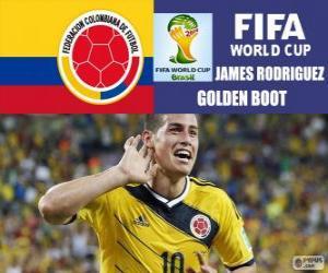 puzzel James Rodriguez, gouden schoen. Brazilië 2014 Football World Cup