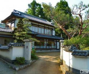 puzzel Japanse, traditioneel huis