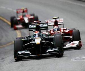 puzzel Jarno Trulli - Lotus - Monte-Carlo 2010