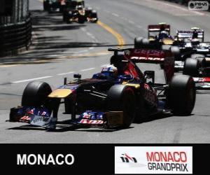 puzzel Jean-Eric Vergne - Toro Rosso - Monte-Carlo 2013