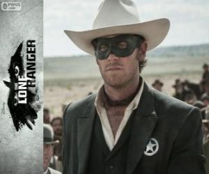 puzzel John Reid (Armie Hamer) in de film Lone Ranger