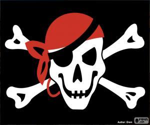 puzzel Jolly Roger piraat vlag