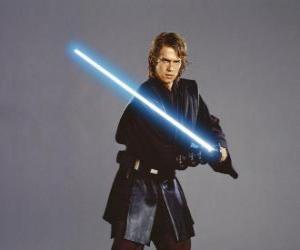 puzzel Jonge Anakin Skywalker met zijn lightsaber