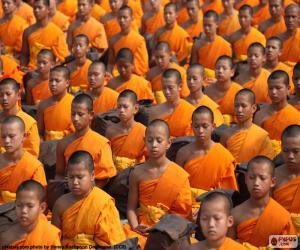 puzzel Jonge boeddhistische monniken