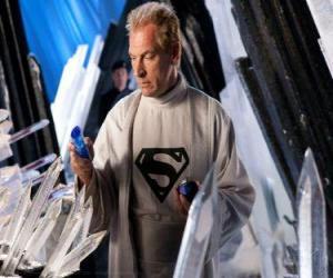 puzzel Jor-El's Kryptonian wetenschappers en leiders en Superman's biologische vader.