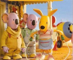 puzzel Josie de kangoeroe touwtje springen