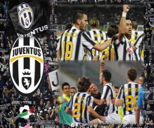 puzzel Joventus, de Italiaanse voetbalbond League kampioen - Lega Calcio 2011-12