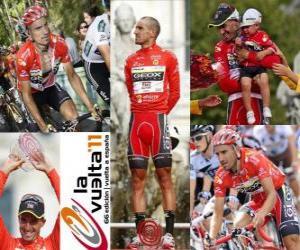 puzzel Juanjo Cobo (GEOX) kampioen van de Ronde van Spanje 2011